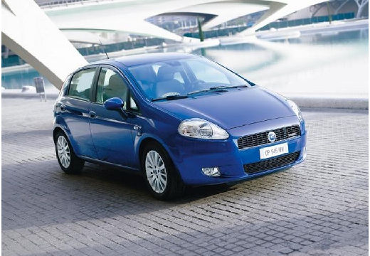 FIAT Punto hatchback niebieski jasny przedni prawy