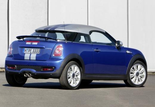 MINI [BMW] coupe niebieski jasny tylny prawy