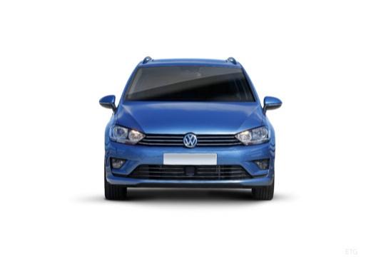 VOLKSWAGEN Golf VII Sportsvan I hatchback niebieski jasny przedni