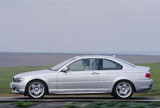BMW Seria 3 coupe silver grey boczny lewy