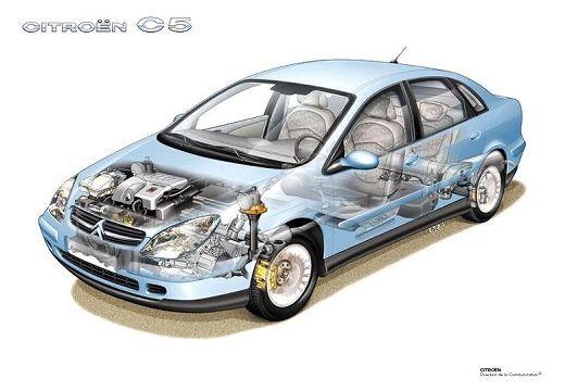 CITROEN C5 I hatchback prześwietlenie