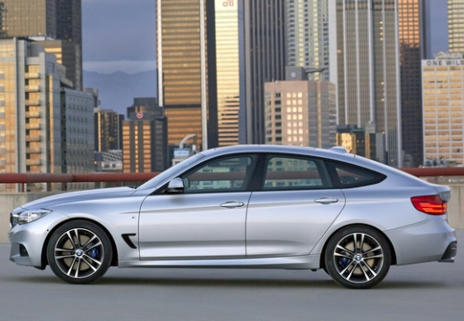BMW Seria 3 Gran Turismo hatchback silver grey boczny lewy