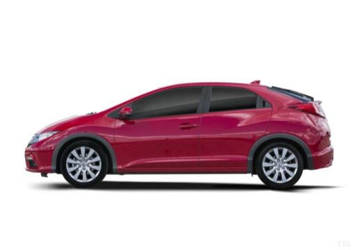HONDA Civic VIII hatchback czerwony jasny boczny lewy
