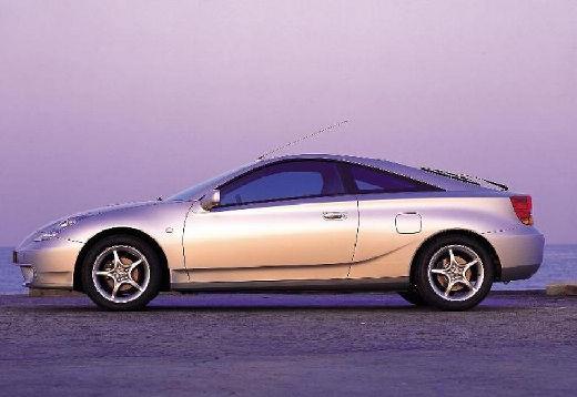 Toyota Celica coupe silver grey boczny lewy
