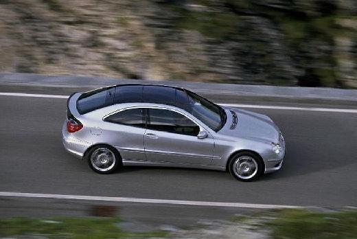 MERCEDES-BENZ Klasa C Sport CL203 I coupe silver grey boczny prawy