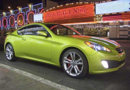 HYUNDAI Genesis I coupe zielony przedni prawy