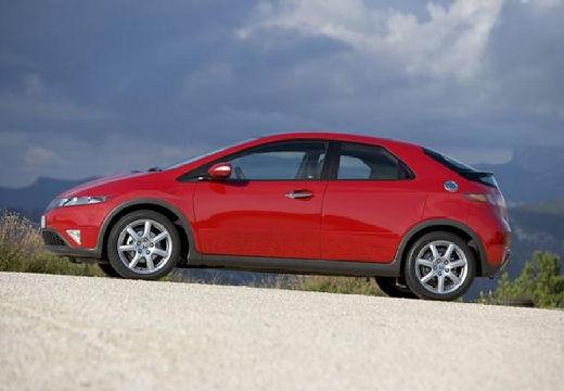 HONDA Civic VII hatchback czerwony jasny boczny lewy