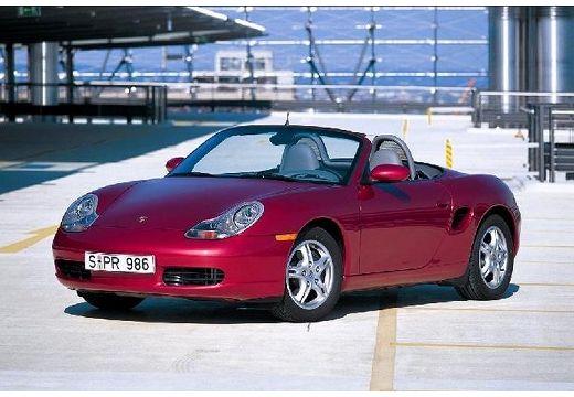 PORSCHE Boxster 986 roadster bordeaux (czerwony ciemny) przedni lewy