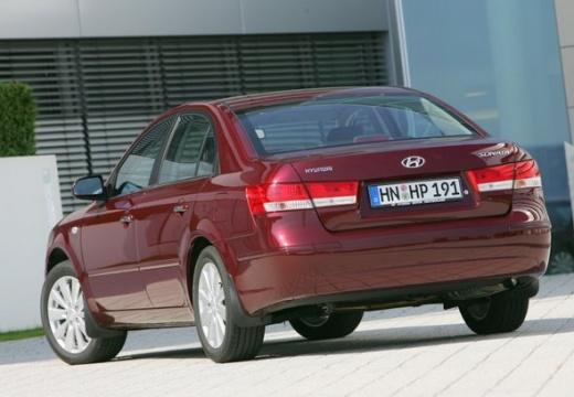 HYUNDAI Sonata VII sedan czerwony jasny tylny lewy