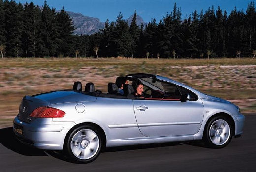 PEUGEOT 307 CC I kabriolet silver grey tylny prawy