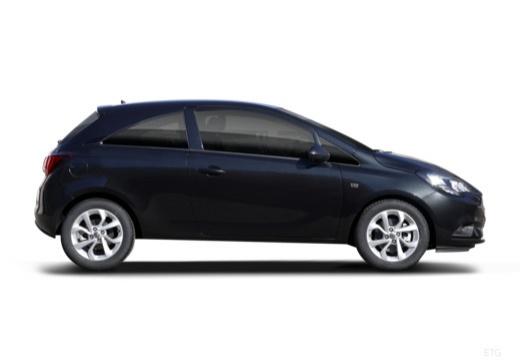 OPEL Corsa E hatchback czarny boczny prawy