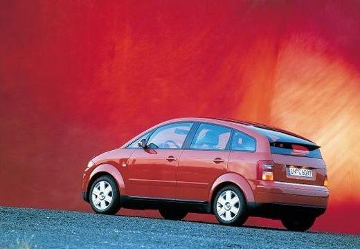 AUDI A2 hatchback czerwony jasny tylny lewy