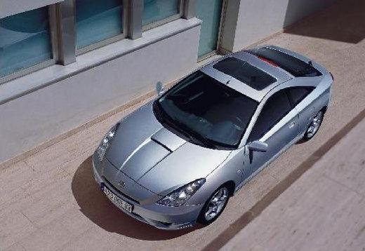 Toyota Celica coupe silver grey przedni lewy