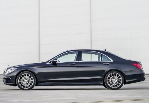 MERCEDES-BENZ Klasa S sedan silver grey boczny lewy