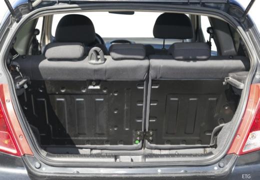 CHEVROLET Aveo I hatchback przestrzeń załadunkowa