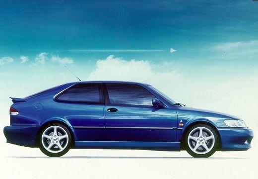 SAAB 9-3 I hatchback niebieski jasny boczny prawy