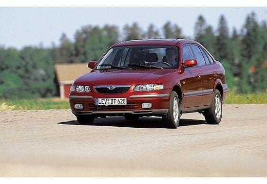 MAZDA 626 hatchback bordeaux (czerwony ciemny) przedni lewy
