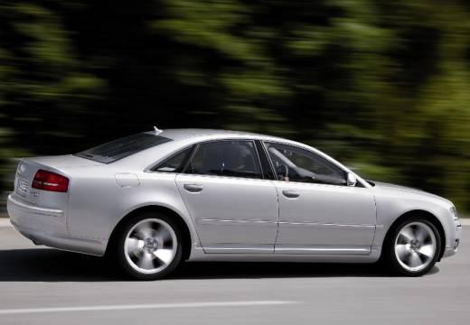 AUDI A8 4E II sedan silver grey boczny prawy