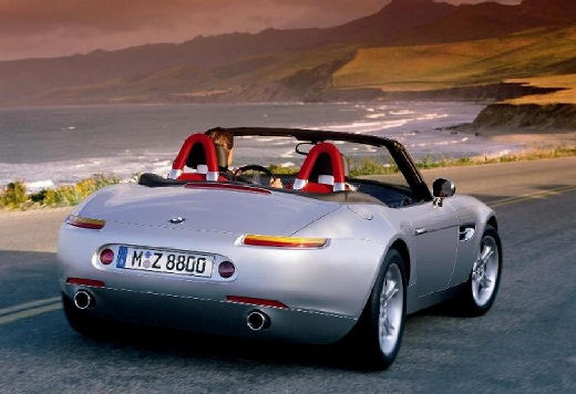 BMW Z8 roadster silver grey задний правый