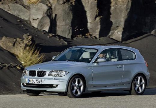 BMW Seria 1 hatchback silver grey przedni lewy