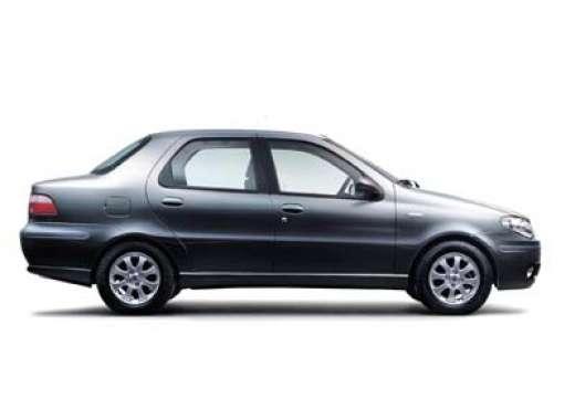 FIAT Albea sedan silver grey boczny prawy