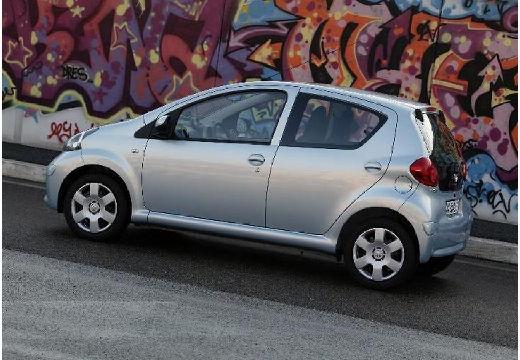 Toyota Aygo I hatchback niebieski jasny tylny lewy