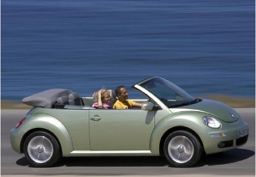 VOLKSWAGEN New Beetle Cabriolet II kabriolet zielony jasny boczny prawy