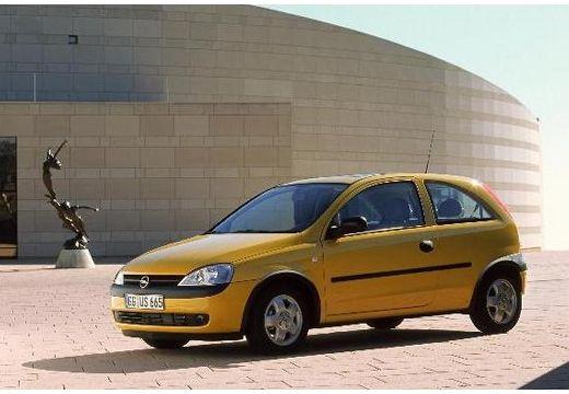 OPEL Corsa hatchback żółty przedni lewy