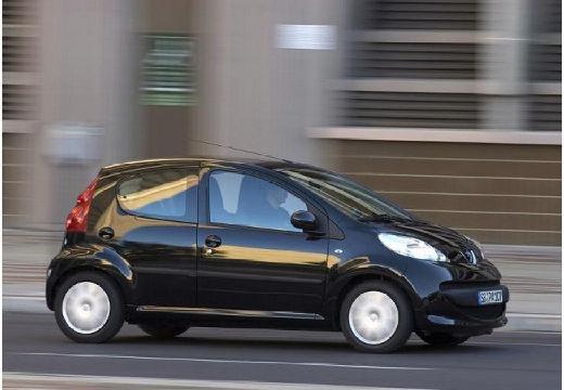 PEUGEOT 107 hatchback czarny przedni prawy