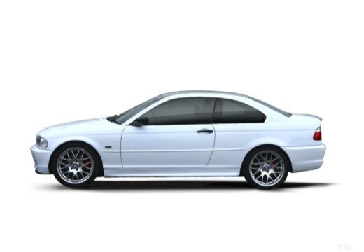 BMW Seria 3 E46/2 coupe biały boczny lewy