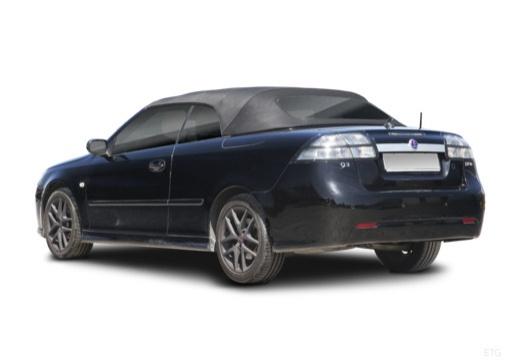 SAAB 9-3 kabriolet czarny tylny lewy