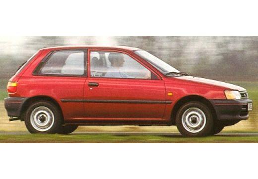 Toyota Starlet hatchback czerwony jasny boczny prawy