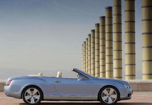 BENTLEY Continental GTC I kabriolet silver grey boczny prawy