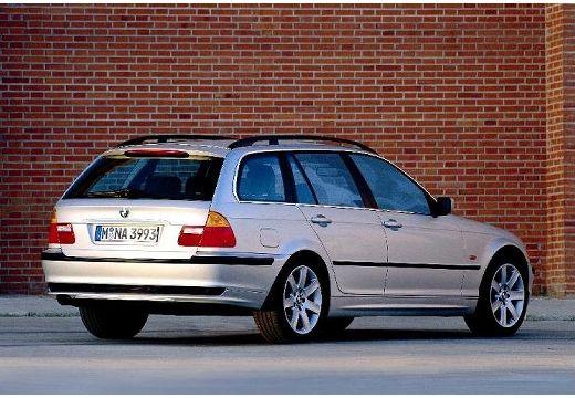 BMW Seria 3 kombi silver grey tylny prawy