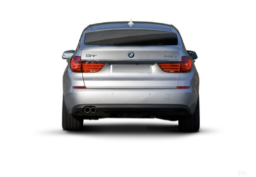 BMW Seria 5 Gran Turismo hatchback silver grey tylny