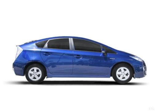 Toyota Prius II hatchback niebieski jasny boczny prawy
