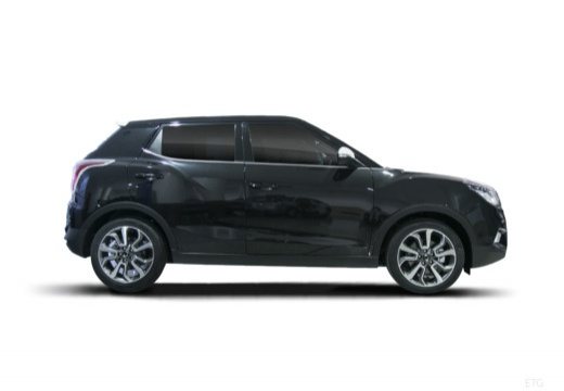 SSANG YONG Tivoli hatchback czarny boczny prawy
