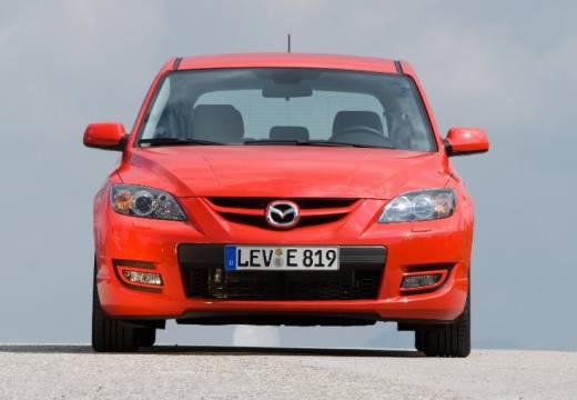 MAZDA 3 II hatchback czerwony jasny przedni