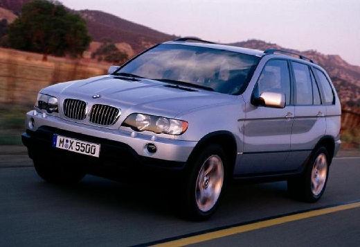 BMW X5 kombi silver grey przedni lewy