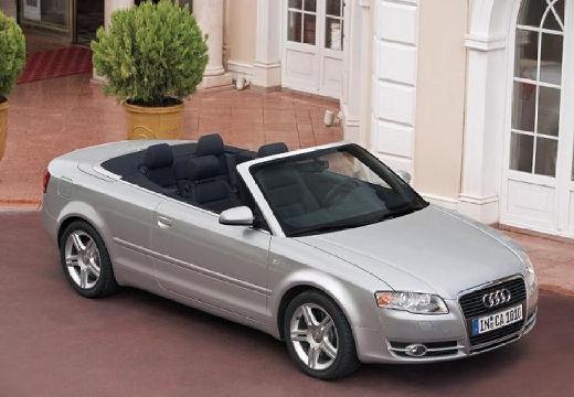 AUDI A4 kabriolet silver grey przedni prawy