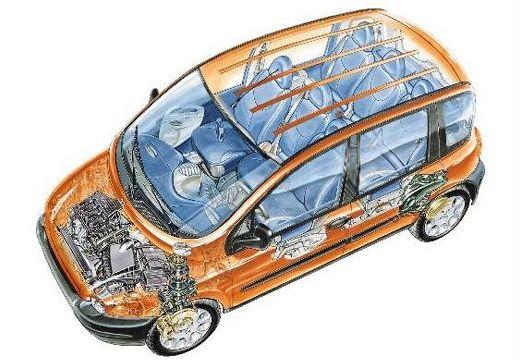 FIAT Multipla I kombi prześwietlenie