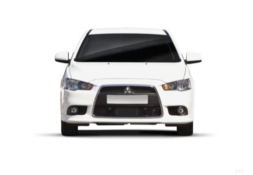 MITSUBISHI Lancer hatchback biały przedni