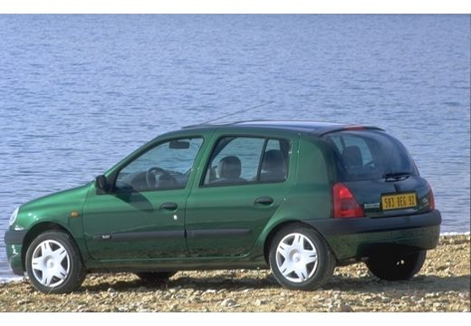 RENAULT Clio II I hatchback zielony przedni lewy
