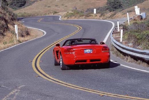 DODGE Viper roadster czerwony jasny tylny lewy