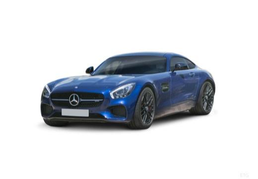 MERCEDES-BENZ Mercedes AMG GT coupe niebieski jasny przedni lewy