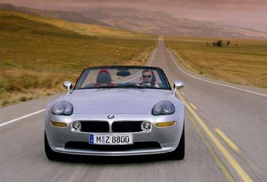 BMW Z8 roadster silver grey передний