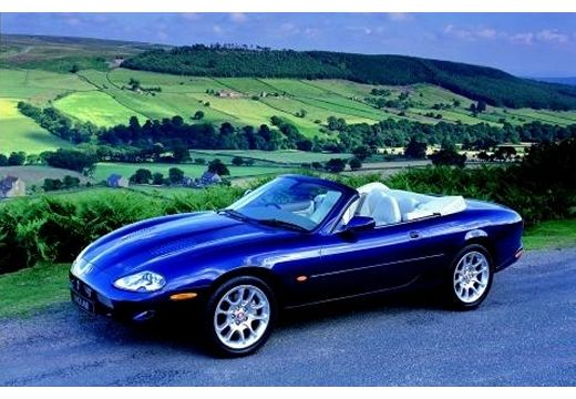 JAGUAR XK8 Convertible kabriolet niebieski jasny przedni lewy