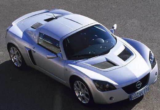 OPEL Speedster roadster silver grey przedni prawy