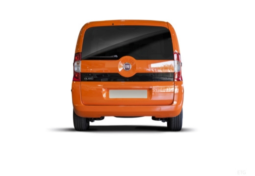 FIAT Fiorino Qubo kombi pomarańczowy tylny