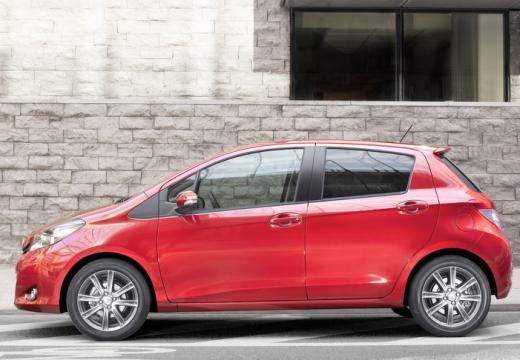 Toyota Yaris V hatchback czerwony jasny boczny lewy